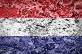 The European country Netherlands on grunge wall — Stock Photo
