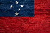 The Western Samoa flag Flag — Stok fotoğraf