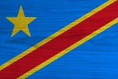 Democratic Republic of the Congo Flag — Stock Photo
