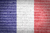 French flag of cardboard box — Stockfoto