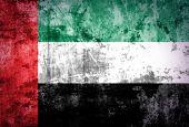 Grunge United Arab Emirates flag — Stock Photo