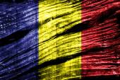Chad Flag on old wood texture — Stock Photo