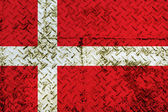 Denmark Flag steel wall — Photo