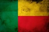 Benin flag on vintage paper — Stock Photo