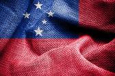 Samoa flag — Stock Photo