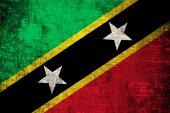 Saint Kitts and Nevis Flag — Stock Photo