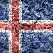 Iceland flag painted on grunge wall — Stock Photo #60700827