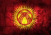 Grunge Kyrgyzstan Flag — Stock Photo