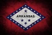 Grunge flag of Arkansas on old paper — Stock Photo