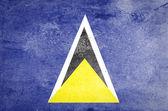 Grunge Saint Lucia Flag — Stock Photo