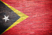 East Timor Flag — Stock Photo