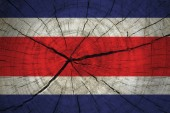 Costa Rica Flag — Stock Photo