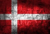 The European country Denmark flag — Photo