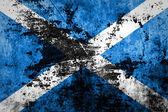Scotland flag on grunge paper — Stock Photo