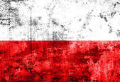 Grunge Poland Flag — Stock Photo