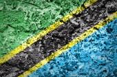 Tanzania Flag — Stock Photo