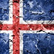 Iceland flag painted on grunge wall — Stock Photo #60828371