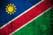 Grunge of Namibia flag — Stock Photo