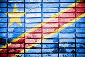 Democratic Republic of Congo Flag — Stock Photo