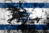 Israel flag on dirty paper — Stock Photo