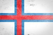 Grunge Faroe Islands Flag — Stock Photo