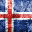 Iceland flag painted on grunge wall — Stock Photo #61311331