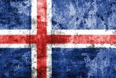 Iceland flag painted on grunge wall — Stock Photo