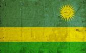 Grunge Rwanda Flag — Stock Photo