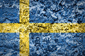 Sweden flag on concrete wall — Stock Photo