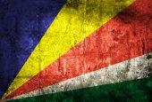 Seychelles Flag on grunge paper — Stock Photo