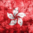 Hong Kong flag on grunge paper — Stock Photo #61359111