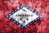 Grunge flag of Arkansas — Stock Photo
