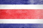 Grunge Costa Rica flag — Stock Photo
