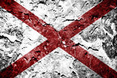 Alabama State Flag painted on grunge wall — Stock Photo