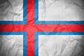 Grunge-färöer inseln-flag — Stockfoto