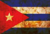 Cuba Flag on vintage paper — Stock Photo