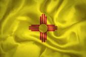 New Mexico waving flag — Stock Photo