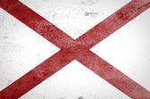 Grunge of Alabama flag — Stock Photo