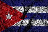 Cuba flag on fabric surface — Φωτογραφία Αρχείου