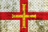 Guernsey flag painted on steel wall — Stockfoto