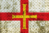 Guernsey flag painted on steel wall — Fotografia Stock