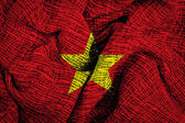 Vietnam flag on fabric surface — Stock Photo
