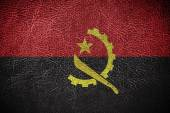 Angola Flag painted on leather texture — Stock Photo