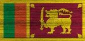 Grunge Sri Lanka Flag — Stock Photo
