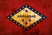 Grunge flag of Arkansas — Stock Photo