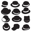 Hats silhouette — Stock Vector #61746929