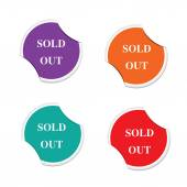 Sold out icon. Special offer label. Round stickers — Stock Vector