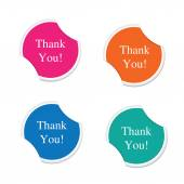 Set of Thank you icon. Round stickers — Vettoriale Stock