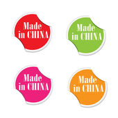 Vector - Made in China. Round stickers — ストックベクタ