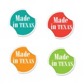 Vector - Made in Texas. Round stickers — Stockvektor
